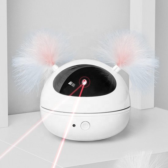 Filo Elektrisch Kattenspeelgoed met Laser - Bewegend Kattenspeeltje Laser - Automatisch Interactief Speelgoed Katten Laserpen - Elektronisch Speelgoed Kittens - Speeltjes Kat - Kitten