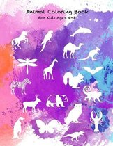 Animal Coloring Book For Kids Ages 4-8