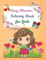 Easy Flowers Coloring Book for Girls