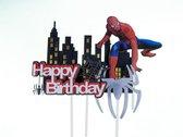 Disney Spiderman - cake flags - taart vlag - taartversiering - taart topper - taart decoratie - decoratie topper