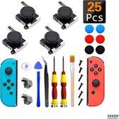 25 In 1 reparatieset geschikt voor de Nintendo Switch controllers- Voor reparatie van 4 Joy-cons! Inclusief mooie siliconen beschermhoesjes!