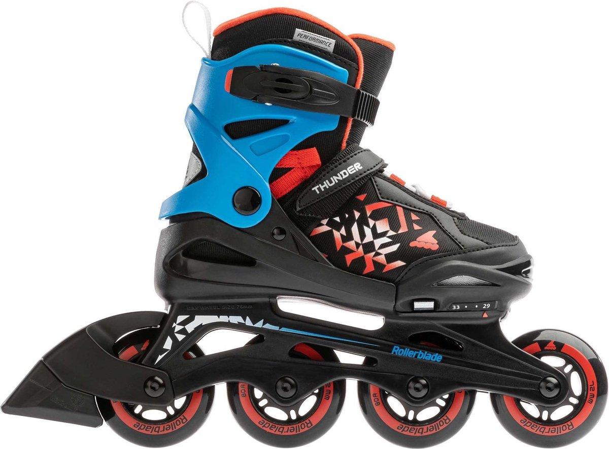 Rollerblade Inlineskates - Maat 36.5-40.5 - Unisex - zwart/rood/blauw