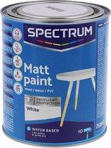 Spectrum matte acryllak Hout Verf op waterbasis Binnen en buiten houtwerk, non-ferro metaal, harde PVC en gips