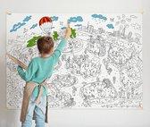 XXL Giant Kleurplaat voor Kinderen - Grote Kleurboek voor Meisjes, Jongens en Volwassenen - Kleurposter 118x84 cm - ZOOLAND