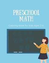 Preschool math coloring book for kids ages 2-6