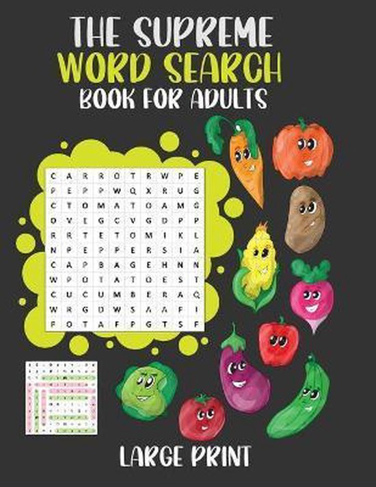 The Supreme Word Search Book For Adults Large Print