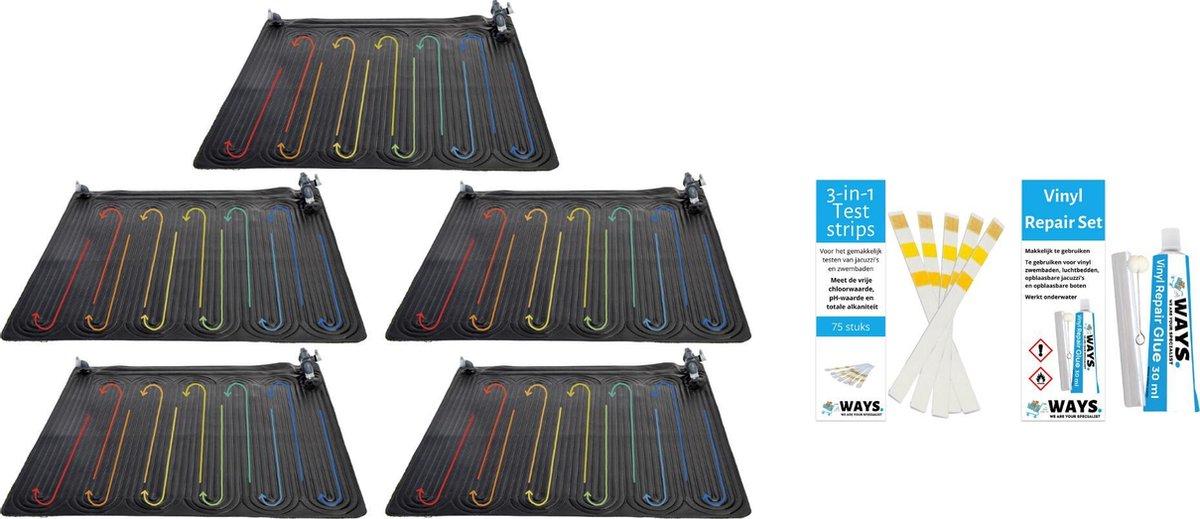 Intex - 5 stuks - Zwembad verwarming - Geschikt voor filterpomp 28638GS / 28636GS & WAYS Reparatieset en Teststrips