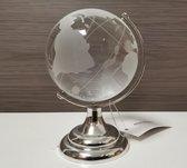 Wereldbol - Globe - 9cm - Ø6cm - Kristal - Klein