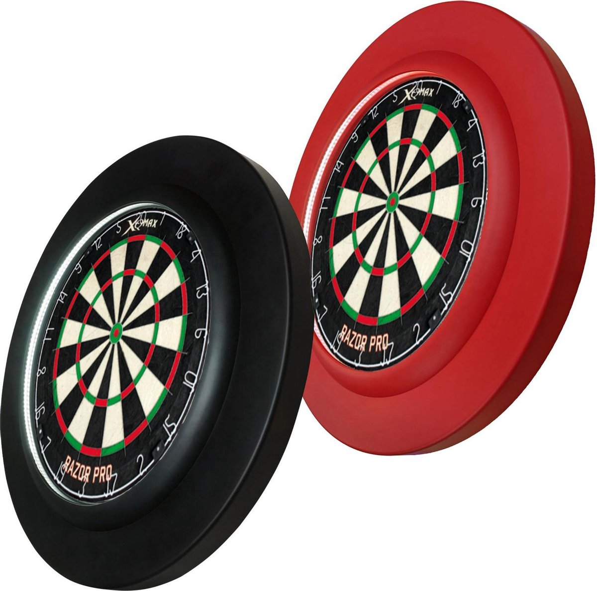 Dragon Darts PU LED set - surround ring - inclusief - dartboard verlichting - en Razor PRO - dartbord - zwart