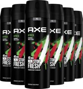 Bol.com-Axe Africa Bodyspray Deodorant - 6 x 200 ml - Voordeelverpakking-aanbieding