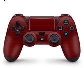 Playstation 4 Controller Skin Brushed Rood Sticker