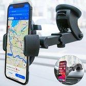 BECIO Telefoonhouders Auto met Zuignap - Universeel Autohouder voor Raam en Dashboard - Zwart