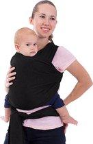Babydrager - Draagdoek - Buikdrager - Draagzak - Zwart - Katoen- Inclusief twee spenen!!