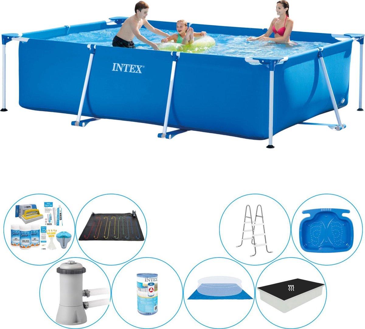 Intex Frame Pool Rechthoekig 300x200x75 cm - Deluxe Zwembad Pakket