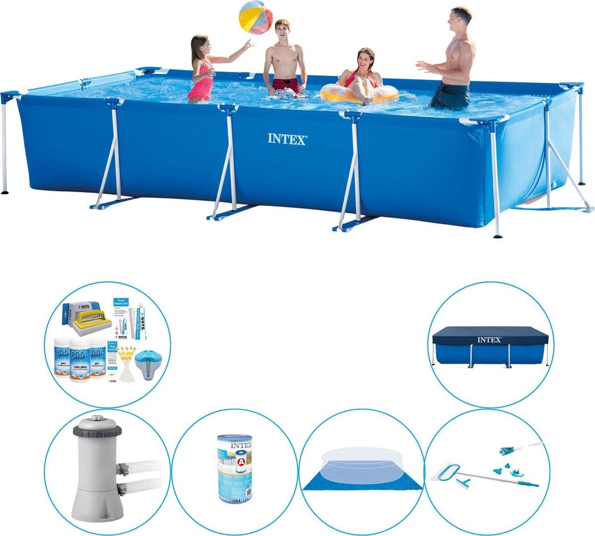 Zwembad Inclusief Accessoires - Intex Frame Pool Rechthoekig 450x220x84 cm