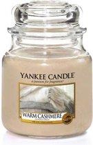 Yankee Candle Medium Jar Geurkaars - Warm Cashmere