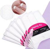 Voordeelpak French Manicure Nagel Stickers - 5 x 48 stuks -  Nail Art - Kunstnagels - Acryl & Gel - nagelstickers voor nagellak gellak