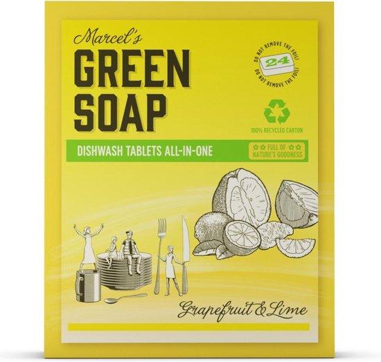 Marcel's Green Soap Vaatwastabletten Grapefruit & Limoen - 7 x 24 tabs