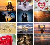 Cadeautip ! Luxe romantische ansichtkaarten set 10x15cm 24 stuks