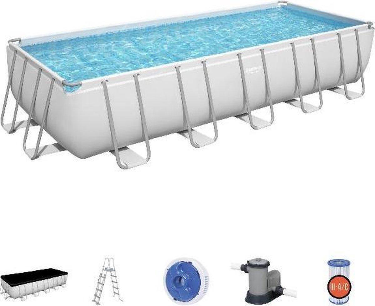 Bestway Power Steel zwembad 640 x 274 x 132 cm - met filterpomp en accessoires