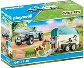 PLAYMOBIL Country Auto met aanhanger - 70511 - Multicolor