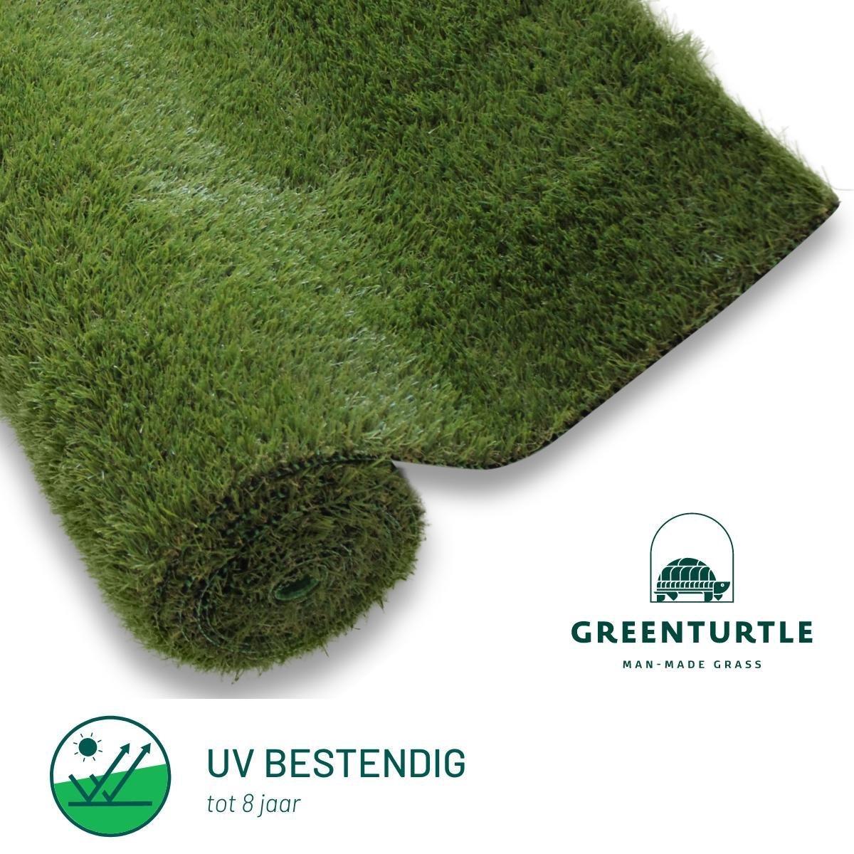 Green Turtle Kunstgras - Grastapijt 100x200cm - 26mm - Central Park - Artificieel Gras - Grastapijt