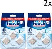 Finish - vaatwasmachinereiniger tijdens wasbeurt - 6 tabletten (2x3)