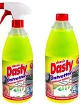 Dasty Ontvetter Voordeelpack: 1x Spuitfles + 1 x Navulling + set sponzen + 1 set schoonmaakhandschoenen