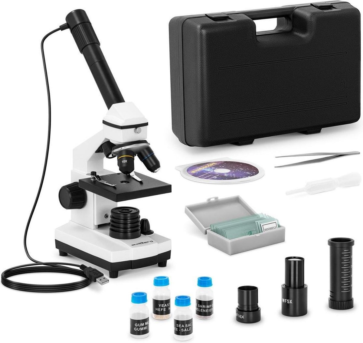 Steinberg Systems Microscoop - 20- tot 1.280x - camera 10 MP - LED - incl. accessoires