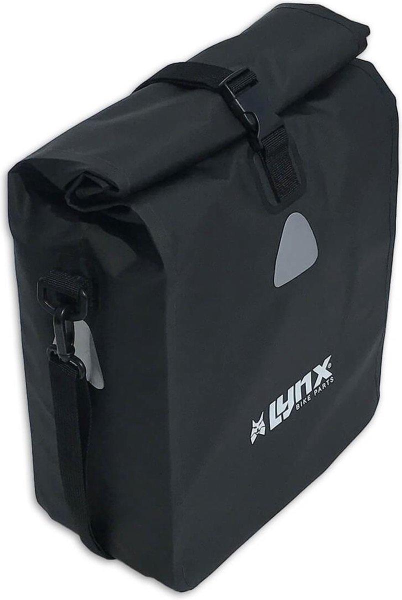 Lynx Single Pannier Bag Pakaftas / Fietstas Zwart - 21 L - Tarpaulin
