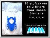 Koop 20x Universele stofzuigerzakken Bosh, Siemens dan krijgt u extra 20 geurstaafjes + 2 filters