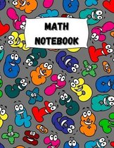 Math Notebook: Large Simple Graph Paper Notebook / Mathematics Notebook / 120 Quad ruled 5x5 pages 8.5 x 11 / Grid Paper Notebook for