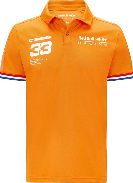Red Bull Racing Max Verstappen polo oranje XS 2021
