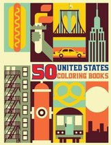 50 United States Coloring Book: The Greatest Nation in History, Activity Book and Fact Book