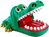 Grotere Bijtende Krokodil met rubberen tanden – Krokodil met Kiespijn – Krokodil Tanden Spel - Tandarts - Party Spel - Gezelschapsspel - Drankspel - Shot spel - Groene Krokodil