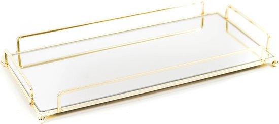 Housevitamin Rechthoekige Dienblad Goud - 34x16cm