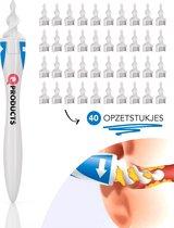Qproducts Oorsmeer Verwijderaar Inclusief 40 Opzetstukken - Oorreiniger - Oorsmeerverwijderaar Spiraalvormig - q grips - qgrips - Oor Schoonmaken - Ear cleaner - Earscratcher