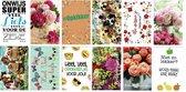 12 Luxe wenskaarten - Beterschap / Opkikkertje / Sterkte - 12x17cm - Gevouwen kaarten met enveloppen