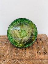 Tamegroute Bowl| Groen | Marokkaanse Aardewerk Saladekom | Diameter 30