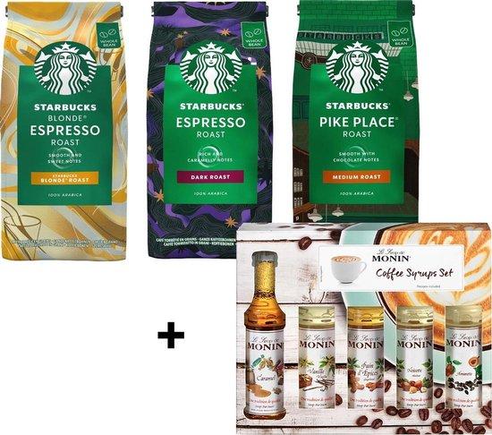 Starbucks Koffiebonen en Monin Siropen Proefpakket