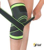 Pulaif Kniebrace voor Ondersteuning en Pijnverlichting – Maat L - Kniebandage met Verstelbare Banden – Kniesteun - Kniebraces