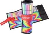 Afbeelding van STABILO Pen 68 - Premium Viltstift - Rollerset - ARTY Edition - Set Met 25 Verschillende Kleuren