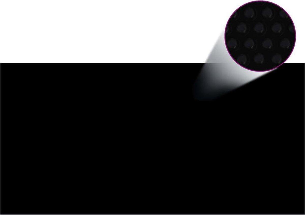 vidaXL Zwembadhoes rechthoekig 1200x600 cm PE zwart
