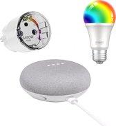 Google home nest mini - met slimme stekker en lamp - VTV