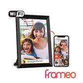 Digitale fotolijst met WiFi en Frameo App – Fotokader - 8 inch - Pora – HD+ -IPS Display – Zwart - Micro SD - Touchscreen