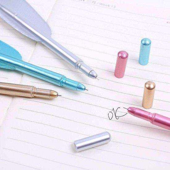 PencilAndMore - Veren pen  - Fijnschrijver - Plastic -Zwart -23 cm