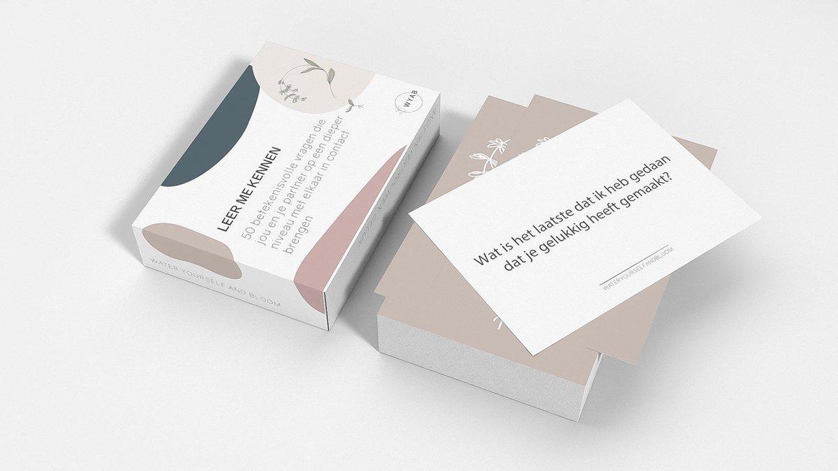 Leer Me Kennen® Openhartig Kaartspel met 50 Betekenisvolle Vragen - Relatie editie