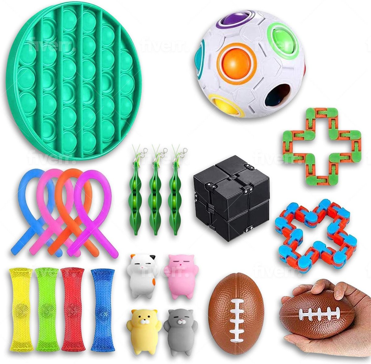 Fidget toys pakket - 20 stuks