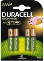 Duracell Rechargeable AAA 750mAh batterijen - 4 stuks