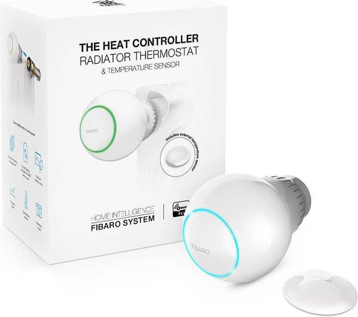 FIBARO The Heat Controller - Z-Wave - Starterpack incl. extra temperatuur sensor - Thermostaatkraan